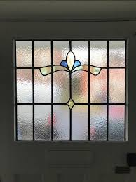 stained glass front door panel