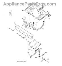 ge wb16k10043 oven bake burner appliancepartspros com part diagram