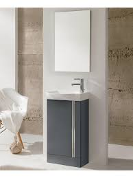 bern 45 cm gloss grey floor standing vanity pack with mirror