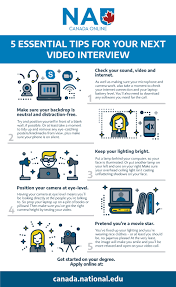 Tips For Interview 5 Essential Tips For Your Next Video Interview Nau