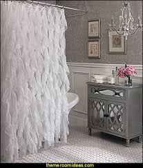 sexy shower curtain ideas.  Curtain Glam Bathroom Decorating Cascade Shabby Chic Ruffled Sheer Shower Curtain Throughout Sexy Ideas