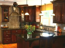 Delighful Dark Kitchen Cabinets Colors Image Of Ideas With In Inspiration