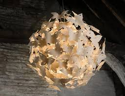 porcelain lighting. boatswain spring butterflies chandelier porcelain lighting