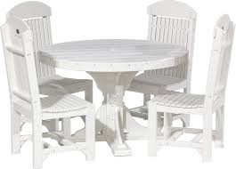round table set with 4 chairs