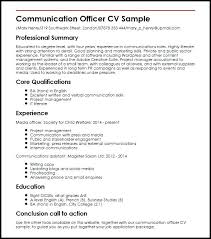Communications Resume Template Communication Resume Examples Present