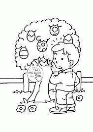 Free Printable Easter Coloring Pages For Kids With Easter Eggs Tree