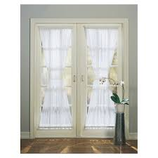 style selections high twist voile 72 in white polyester rod pocket sheer single curtain panel
