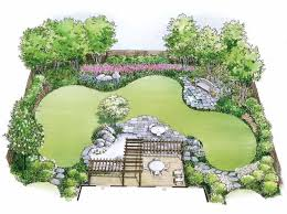 design a garden. Eplans Landscape Plan - Water Garden From House Code HWEPL11452 Design A
