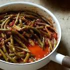 braised fresh green beans