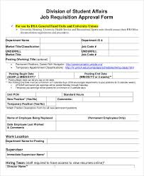 employment requisition form template 11 job requisition form sample free sample example format download