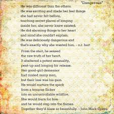 dangerous sexy poetry from n r hart and john mark green the one ·
