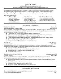fashion buyer resumes resume example