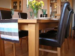 the stunning emperor full leather roll back oak dining chair and tallinn erfly extending table