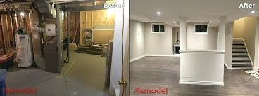 basement remodels before and after. Exellent And Basement Renovation Before And After Gallery Of  With With Basement Remodels Before And After