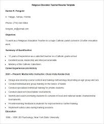Resume Templates Education Amazing 48 Teacher Resume Templates PDF DOC Free Premium Templates