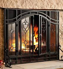 glass fireplace screen contemporary fireplace screen doors modern contemporary regarding brilliant home fireplace screens with glass