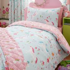 magical unicorn printed duvet cover and