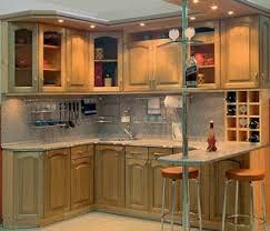 Small corner kitchen cabinet design can be various and you can rather  easily choose furniture to match different kitchen interiors.