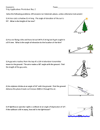 solving right triangles worksheet precalculus intrepidpath unit