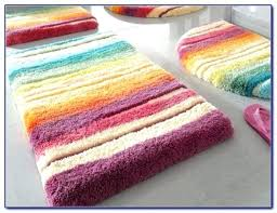 multi colored bath rugs rust colorful purple checker pattern rich color