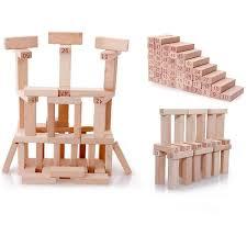 Wooden Bricks Game Online Shop 100PcsSet Wooden Building Blocks Educational Numbers 52