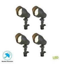 low voltage 50 watt equivalent black outdoor integrated led landscape flood light 4
