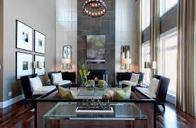 decorate a living room with high ceilings