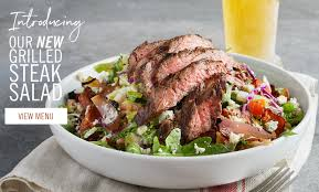 Beautiful Grilled Steak Salad Desktop Size Carousel Image. The Image Will Rotate  Every Few Seconds.