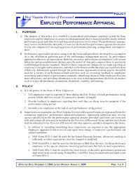 Sample Employee Performance Appraisal Employee Performance Appraisal Sample Under Fontanacountryinn Com
