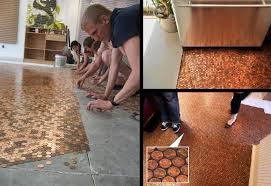a detailed house how to make a penny floor