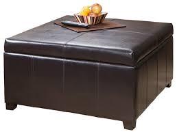 storage ottoman coffee table. Berkeley Espresso Leather Storage Ottoman Coffee Table O