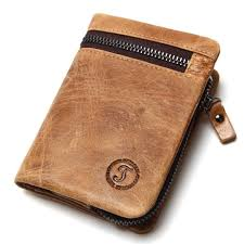 genuine cow leather mens wallets brand logo zipper design bifold short men purse male clutch with card holder coins purses walet red wallet leather