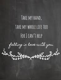 Instant DownloadElvis Presley I Can't Help Falling In Love With Enchanting Download Song Quotes