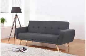 birlea farrow large grey fabric sofa bed 2 seater wooden legs contemporary