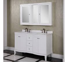 Accos 60 inch White Double Bathroom Vanity Cabinet with Medicine