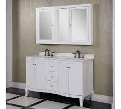 accos 60 inch white double bathroom vanity cabinet