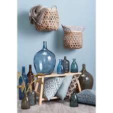 Blauwe Decoratie Brengt Rust Accessoires Woonkamer Vaas Kussen