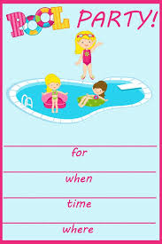Free Pool Party Invitations Printable Birthday Pool Party Invitations Printable Free