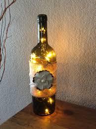 Decorative Bottle Lights Wine Bottle Light Burlap And Lace Lace Covered Burlap