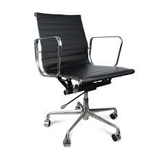 replica office chairs. eames replica low back pu leather office chair - black chairs