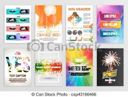 Presentation Flyers Abstract Backgrounds Set Geometric Shapes And Frames For Presentation Annual Reports Flyers Brochures Leaflets Posters Business Cards Document