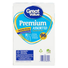 Great Value Premium Assorted Clear Cutlery 96 Count Walmart Com Transparent Colored Paper Walmartl L