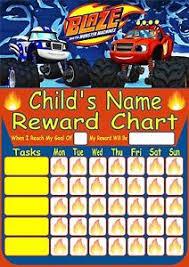 Potty Training Sticker Chart Printable Personalised Blaze Reward Chart Potty Training Behaviour Re