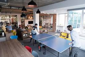 creative office spaces. Download Playing Ping Pong Tennis At Creative Office Space Stock Photo - Image Of Pong, Spaces