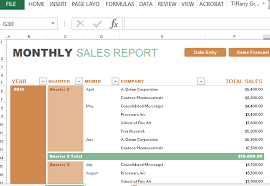 Sales Projection Format In Excel Monthly Sales Report And Forecast Template For Excel