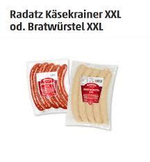 Radatz käsekrainer im angebot aus aktuellem prospekt von metro, gültig von do. Radatz Kasekrainer Xxl Od Bratwurstel Xxl Pro 700 G Pkg Um 4 99 Bei Penny