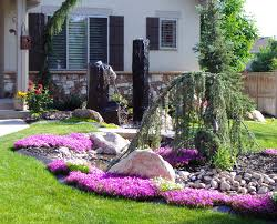 Relieving Front Yard Design Decors Inspirationsgallery Landscaping Ideas  Plus Rock Landscaping Ideas Also Front Yard Using