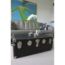coffee table black trunk coffee table storage trunk ike white carpet mug vase grey leather