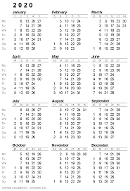 2020 2020 Weekly Planner Free Printable Calendars And Planners 2020 2021 2022