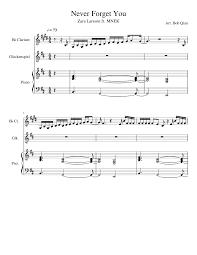 forget you piano sheet music never forget you zara larsson ft mnek piano clarinet sheet